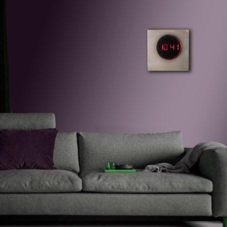 Horloge miroir carée décoration contemporaine led