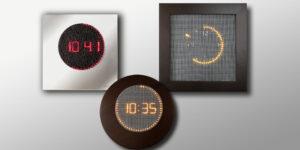 horloges murales lumineuses à led