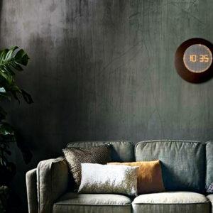 horloge ronde lumineuse murale à leds