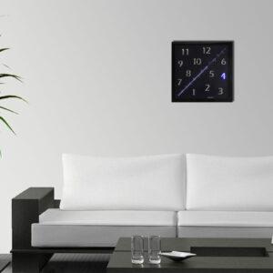 horloge diagonalK tableau luminescente décor digitale led Alainpers